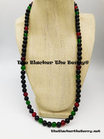 RBG Necklace Red Black Green Jewelry Black Owned Business