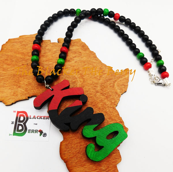 King Necklace RBG Pan African Teen Men Jewelry