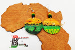 African Earrings Hand Painted Ethnic Earrings Women Teen