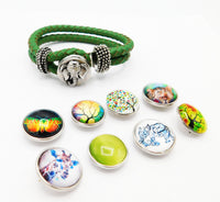Teen Girl Bracelet Gift Ideas Snap Interchangeable Jewelry Green
