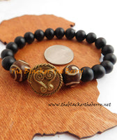 African Bracelet Black Sankofa Jewelry Ethnic Women Men