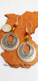 Ethnic Earrings Silver Long Beaded Women Rasta Jewelry