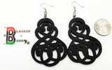 Wooden Earrings Black Jewelry Ethnic Women