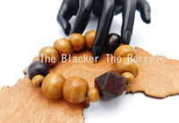 Wooden Large Beaded Bracelet Jewelry Handmade