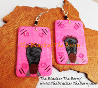 Black Women Earrings Hand Painted Natural Hair The Blacker The Berry®