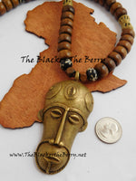African Necklace Men Jewelry Wooden Beaded Ethnic