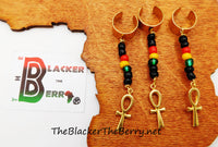 Ankh Hair Accessories Locs Dread Twist Rasta Handmade