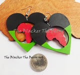 Africa Earrings RBG Pan African Jewelry Wooden The Blacker The Berry®