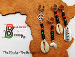 Pan African Hair Accessories RBG Dreads Locs Handmade African Handmade Ethnic