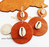 Wooden Earrings Cowrie Shell Women Jewelry