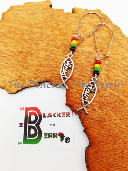 Blessed Earrings Rasta Silver Women Jewelry The Blacker The Berry®