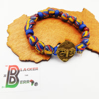 African Bracelets Unisex Handmade Blue Beaded The Blacker The Berry®