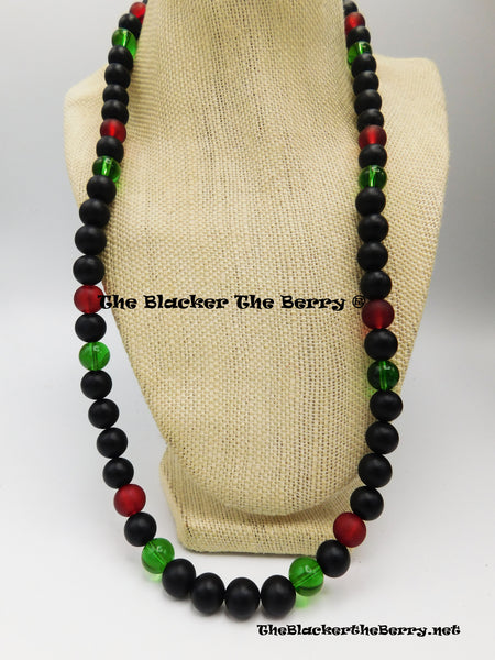 RBG Necklace Red Black Green Pan African Jewelry Black Owned Business
