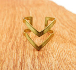 Chevron Brass Ring Adjustable Women Gift Ideas Ethnic Jewelry