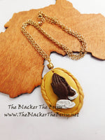 Praying Hands Necklace African American Handmade Jewelry