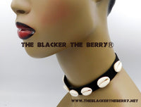 Cowrie Choker Necklace Black Women Jewelry Teen