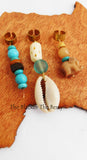 Afrocentric Hair Jewelry Turquoise Beach Blue Ethnic