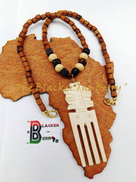 Ethnic Necklace African Adinkra Jewelry Men Women The Blacker The Berry®