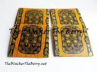 African Kente Coasters Yellow Black Home Decor Kitchen The Blacker The Berry®