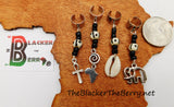 Hair Jewelry Accessories Black White African Locs Dreads Ethnic Afrocentric