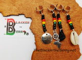 Hair Jewelry Accessories Rasta Handmade Beaded African Locs Dreads Ethnic Afrocentric