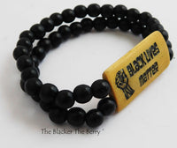 Black Lives Matter Bracelet Black Beaded Jewelry