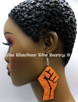 Black Power Fist BLM Jewelry Handmade Black Owned Business 3 Inches