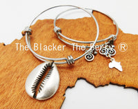 Cowrie Shell Bangles Silver Jewelry Women Set