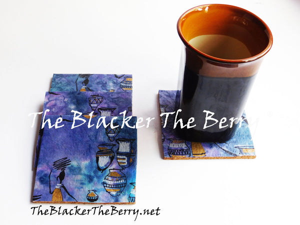 African Coasters Black Art Home Decor The Blacker The Berry®