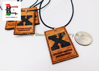 X Necklaces By Any Means Necessary Wooden Black Pendant Jewelry SALE