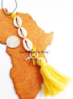 African Cowrie Key Chains Purse Charm