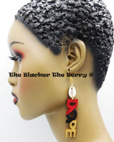 Dope Earrings Red Black Gold Cowrie Long Jewelry Women
