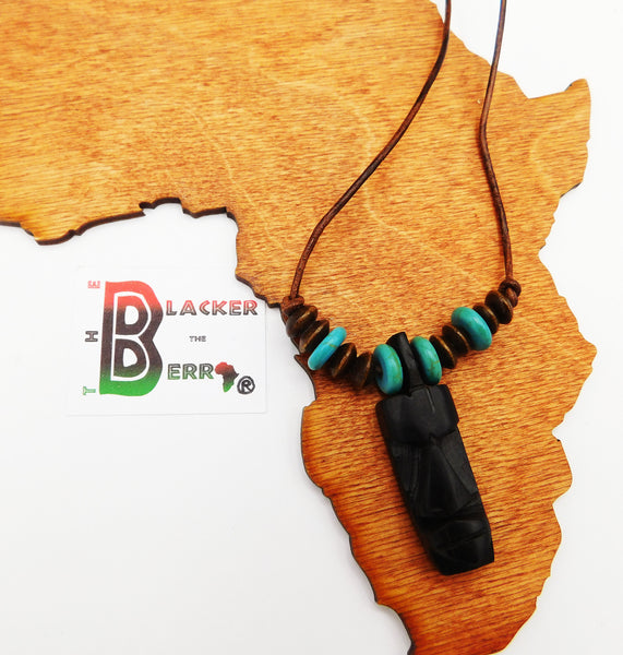 African Necklace Ethnic Jewelry Beaded Leather