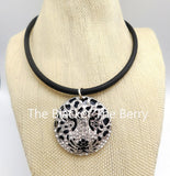 Leopard Face Bling Choker Necklace Fashion Jewelry