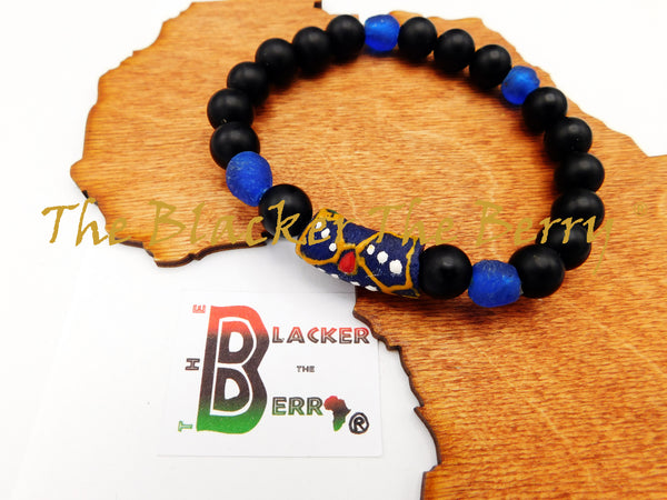 African Bracelets Beaded Women Men Blue Black The Blacker The Berry®