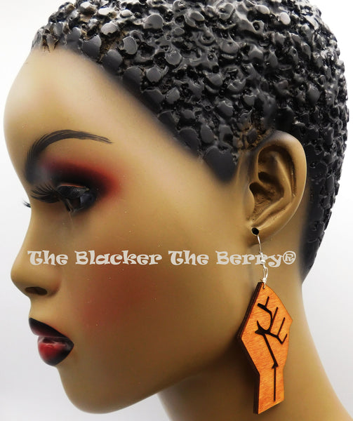 Black Power Fist BLM Jewelry Handmade Black Owned Business 2.5 Inches