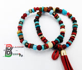 Anklet Turquoise Red Beaded Ethnic Women Jewelry