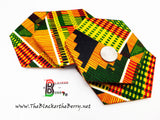 Kente Coasters Wooden Handmade Hexagon Home Decor Set of 4