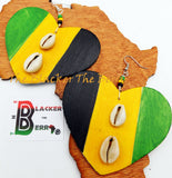 Jamaican Earrings Wooden Hand Painted Women Jewelry