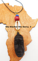 African Wooden Rear Mirror Car Charm Accessories Carved Kwanzaa Gift Ideas Black Owned Business