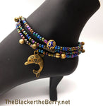 Dolphin Anklet Beaded  Jewelry Handmade