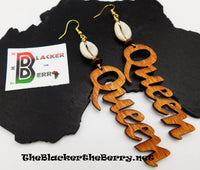 Queen Earrings Handmade Cowrie Shell Gift Ideas