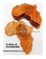 African Large Coasters Handmade Home Decor 4 Set