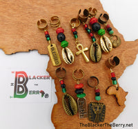 Hair Accessories Jewelry RBG Pan African 10 Set Handmade Wholesale