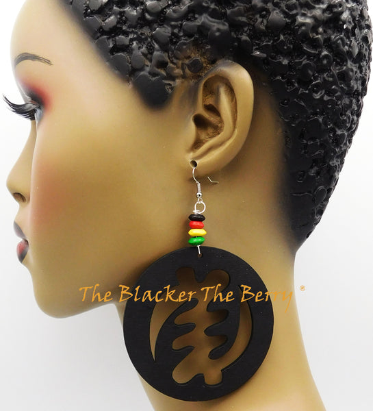 Gye Nyame Earrings African Jewelry Black Women Rasta