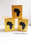 Africa Candle Holders Black Gold Hand Painted The Blacker The Berry®
