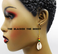 Rasta Cowrie Earrings Women Jewelry Beaded