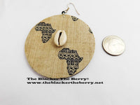 Large Africa Earrings Fabric Cowrie Shell Jewelry Women