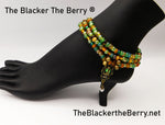Egyptian Anklet Scarab Beaded Women Handmade Jewelry Women