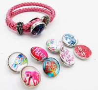 Pink Bracelet Leather Snap Jewelry Teen Gift Ideas